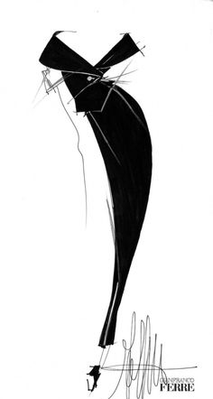 Frivolous Fabulous - Chic Gianfranco Ferré Sketch for Miss Frivolous Fabulous