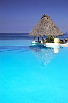 Aqua Splash, Mexico, Puerto Vallarta, Grand Velas Riviera Nayarit Hotel & Resort, Pool #travel #blue