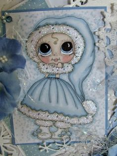 Bestie close-up by Julie Gleeson.... see card in her blog post