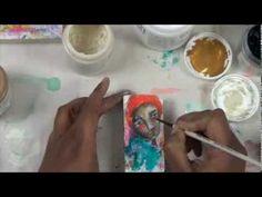 mixed media art, because of joy 2 - YouTube