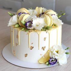 Elegant Birthday Cakes, Beautiful Birthday Cakes, My Birthday Cake, Beautiful Cakes, Amazing Cakes, Cake Decorating Designs, Creative Cake Decorating, Cake Decorating Videos, Cake Designs