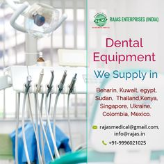 We are enlisted as one of the leading manufacturers and exporters of Dental Equipment in Jordan, Oman, Qatar, Bahrain, Kuwait, Egypt, Sudan, Malaysia, Thailand, Singapore, Kenya, Ukraine, Brazil, Peru, Colombia, Mexico, Latin America, Burkina Faso, Benin, Sierra Leon, Tanzania, Congo, Senegal, Niger, Ghana, Burundi, Malawi, Myanmar, Mali, Nigeria, Swaziland, Seychelles, Mauritius, Gabon, Lesotho, Gambia