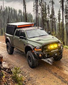 This is a stunning beast! Ram Trucks, Dodge Trucks, Diesel Trucks, Pickup Trucks, Overland Truck, Expedition Truck, Dodge Ram 4x4, Dodge Ram Diesel, Aev Ram