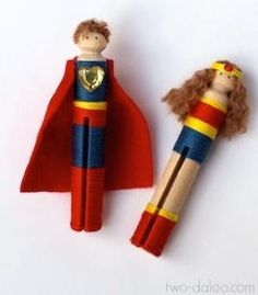 Clothespin Superheroes! by margot graham
