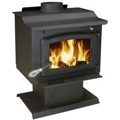 US Stove EPA Certified 1100 Square Foot Pedestal Wood Heater with Blower APS1100B
