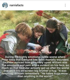 They are one of the best Film crews Narnia Cast, Narnia 3, Fandoms Unite, Narnia Movies, The Avengers, Chronicles Of Narnia, Book Fandoms, Movies Showing, Book Nerd