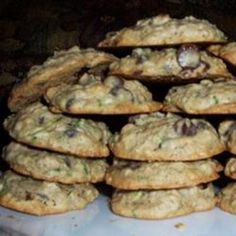 St. Patricks Day Zucchini-Oatmeal Cookies