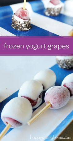 These DIY frozen yogurt grapes are one finger food that your toddler won't be able to get enough of. Serve this yummy snack as a healthy alternative to other frozen treats. All you need is a bag full of grapes, your little one's favorite yogurt flavor, and assorted toppings like chopped nuts, granola, or chocolate chips. Your child will love the taste and texture of this easy snack.