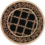 Chelsea Black/Gold 3 ft. Round Area Rug