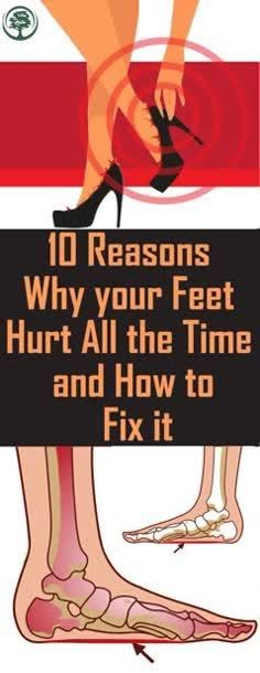 10 Reasons Why Your Feet Hurt All the Time and How to Fix It ! - - 10 Reasons Why Your Feet Hurt All the Time and How to Fix It ! 10 Reasons Why Your Feet Hurt All the Time and How to Fix It ! 10 Reasons Why Your Feet Hurt All the Time and How to Fix It ! Easy, Fitness Humor, Home Remedies, Natural Remedies, It Hurts, Brighton, Bling, Make Up, Let It Be