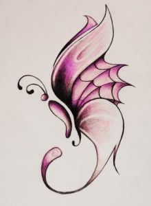 Butterfly tattoo - Not my color, but I like the design