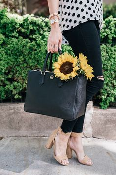 sunflowers and heels | www.LittleJStyle.com