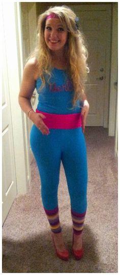 1980s workout barbie halloween costume - Halloween Costume Barbie