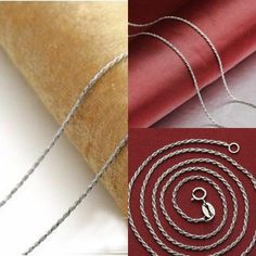 Wholesale S925 Sterling Solid Silver lots 10pcs 1mm Chain Necklace 18 inches #Unbranded #Chain