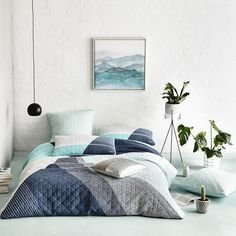 Ideal for a more gender neutral approach to styling your bedroom, the Beckett quilt cover from Home Republic is a contemporary quilted design created from soft grey, blue and charcoal tones. This quilt cover offers a cotton fill that won't create unwanted heat in the warmer months. Pair with the coordinating standard and European quilted pillowcases for a complete look in your home.
