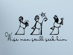 Christmas Decor Wise Men still seek Him Wall Decal vinyl lettering religious decorations. $15,00, via Etsy.