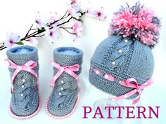 Baby Knitting P A T T E R N Baby Set Knitting Baby Hat Baby Shoes Knitted Baby Hat Baby Booties Baby Boy Baby Girl Pattern ( PDF file )