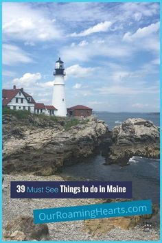 If you are planning a trip I highly suggest using this Maine Travel Guide! Here are 30+ things to do in Maine that you do not want to miss! #ourroaminghearts #travelguide #maine #travel #US