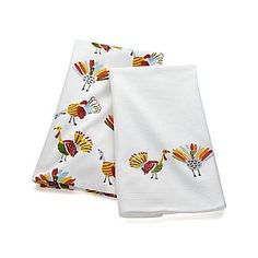 Happy Turkey Dish Towels Set of Two