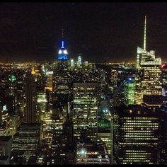 http://NYCPin.it ∞ NYC skyline from the top of Rockefeller.