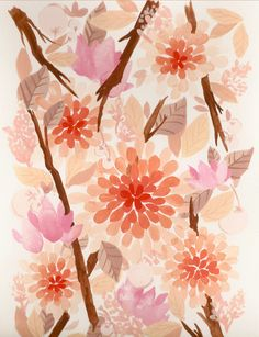 flowers are my heart. i may have to copy this and paint it myself. ;) i wish it was fabric!!