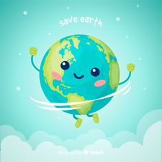 Lovely planet earth with cartoon style Free Vector Planet Earth Images, Save Planet Earth, Save Our Earth, Love The Earth, Earth Day Drawing, Earth Drawings, Cartoon Images, Cartoon Styles, Salve A Terra