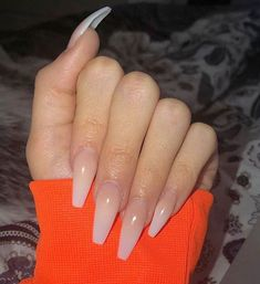 "If you're unfamiliar with nail trends and you hear the words ""coffin nails,"" what comes to mind? It's not nails with coffins drawn on them. It's long nails with a square tip, and the look has. Best Acrylic Nails, Acrylic Nail Designs, Plain Acrylic Nails, Perfect Nails, Gorgeous Nails, Aycrlic Nails, Glitter Nails, Stiletto Nails, Acrylic Nails Coffin Ombre"