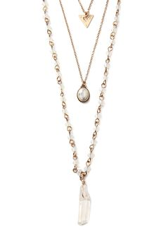 Faux Crystal Layered Necklace | Forever 21 - 1000076772