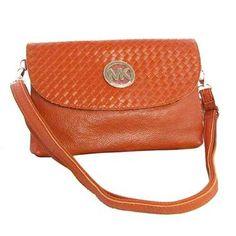 Michael Kors Messenger Small Orange Crossbody Bags Outlet - $74.99
