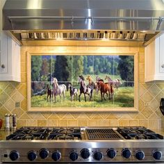 Decorative Tiles For Kitchen Magnificent Cool Waters Decorative Tile Mural  Tile Ideas Kitchen Backsplash Inspiration