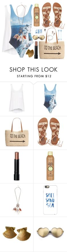 """""""Untitled #190"""" by sandasara ❤ liked on Polyvore featuring rag & bone, Orlebar Brown, Style & Co., Billabong, Bobbi Brown Cosmetics, Sun Bum, New Look, Casetify, Wildfox and onepieceswimsuit"""
