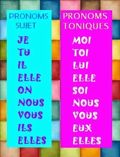 Les pronoms toniques vs pronoms sujet - helpful simple explanation (with Spanish translation). French Language Lessons, French Language Learning, French Lessons, Learning Spanish, French Expressions, French Teaching Resources, Teaching French, French Phrases, French Words