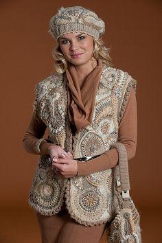 freeform crochet vest