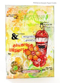 Meihsia Liu Simply Paper Crafts Mixed Media Art Journal Page Simon Says Stamp 600