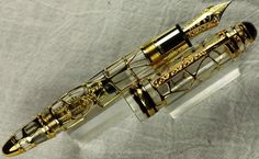 Montblanc Skeleton 75th Anniversary Fountain Pen Gold Mint Complete Display   eBay
