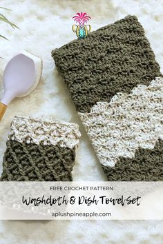 Crochet Towel Holders, Crochet Dish Towels, Crochet Kitchen Towels, Bag Crochet, Crochet Potholders, Crochet Home, Crochet Crafts, Crochet Yarn, Free Crochet