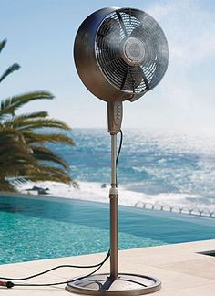 Frontgate's Misting Fan is perfect for those hot summer days by the pool!