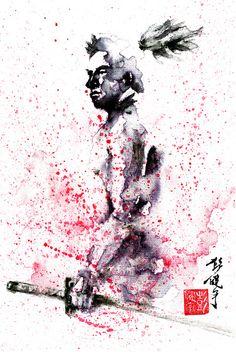Miyamoto Musashi- Legendary Samurai Art Print