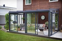 The most beautiful conservatory models that will inspire you architect at home – pergola House Design, Pergola Shade Diy, Winter Garden, Home, Patio Room, New Homes, Enclosed Patio, Glass Porch, House Extension Design