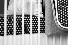 Cross Crib Sheet - The Project Nursery Shop