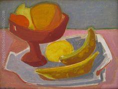 """Norberto Berdía """"Frutas"""" Óleo sobre fibra 40 X 30 cms. Año 1976  http://www.portondesanpedro.com/ver-producto.php?id=10780"""