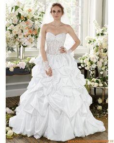 2013 Neue luxuriöse Brautkleider für Prinzessin aus Taft A-Linie mit Schleppe