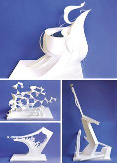 大曽根美術研究所 愛知県 Conceptual Model Architecture, Origami Architecture, Paper Art, Paper Crafts, Diy Crafts, Abstract Sculpture, Abstract Art, Kirigami, Pin Art