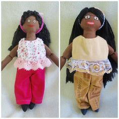 African American Dress Up Dolls  Handmade Toys by JoellesDolls
