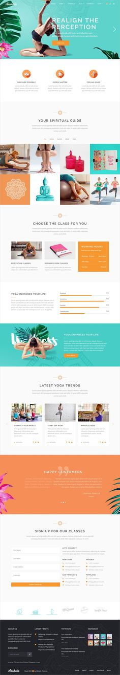 Anahata is a perfect 12in1 responsive #WordPress theme for #yoga, #fitness and lifestyle studio websites download now➩ https://themeforest.net/item/anahata-a-yoga-fitness-and-lifestyle-theme/19375212?ref=Datasata