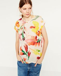 Image 2 of FLORAL PRINT T-SHIRT from Zara