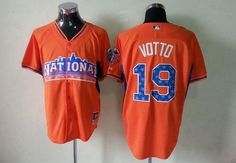 Reds  19 Joey Votto Orange All-Star 2013 National League Embroidered MLB  Jersey! 4b578aaea