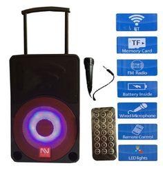 "NUTEK SEISMIC AUDIO 10"" POWERED PA DJ TWO WAYS SPEAKER Audio System Bluetooth #NUTEK"