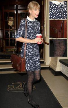 Taylor Swifts dice print dress