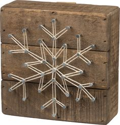 Item # 32630 | String Art - Snowflake | Primitives by Kathy